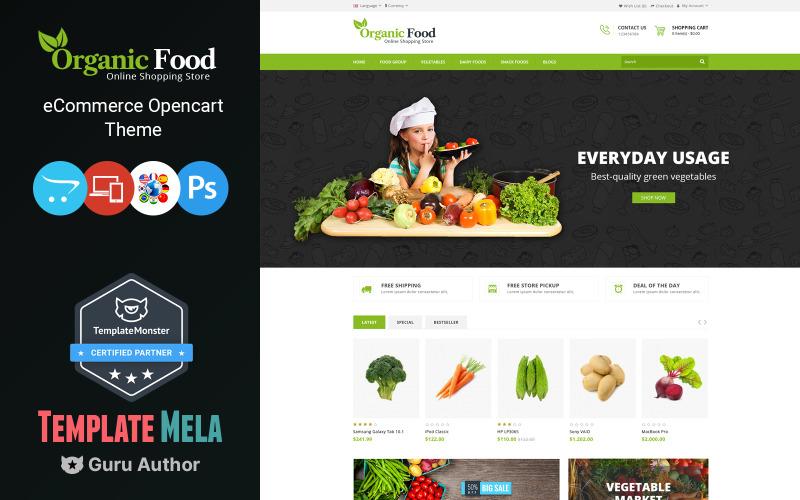 Bio-Lebensmittelgeschäft OpenCart Vorlage