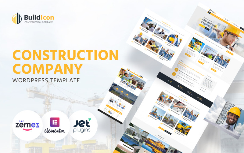 BuildIcon - Construction Company WordPress Theme