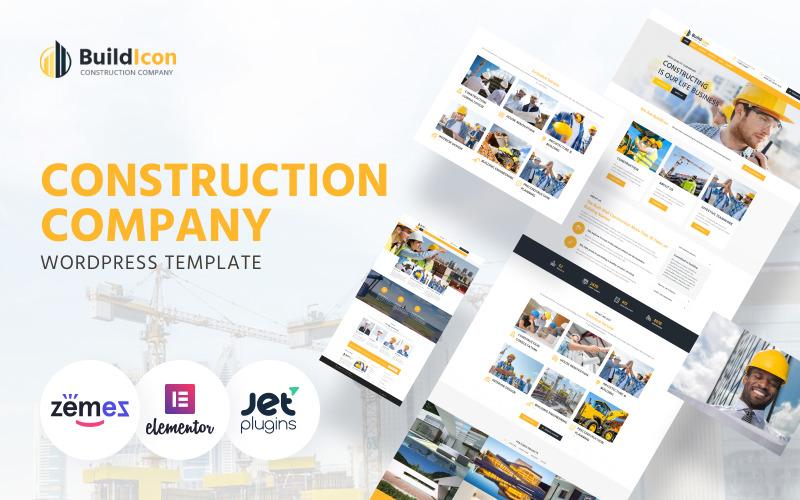 BuildIcon - тема WordPress для строительной компании