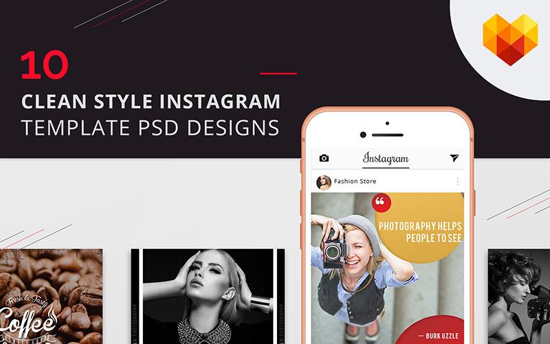 10 Clean Style Instagram Bilder Social Media Vorlage