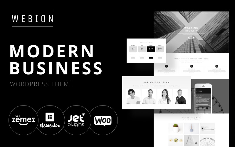 Webion - Minimal Elementor Multifunctioneel WordPress-thema