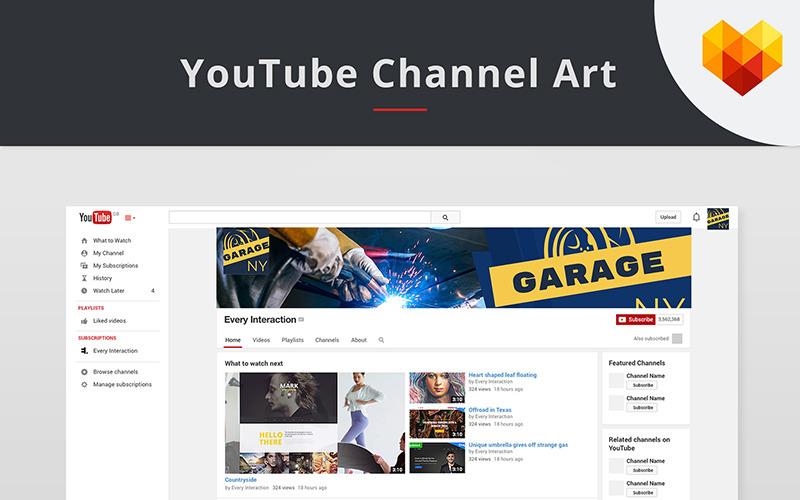 YouTube Channel Art für Auto Shop Social Media Vorlage