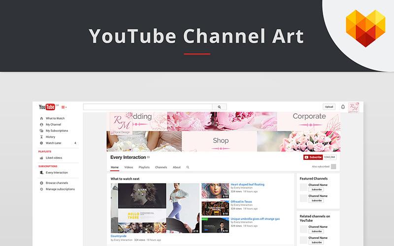 Modèle de couverture YouTube pour Floral Designer pour les médias sociaux