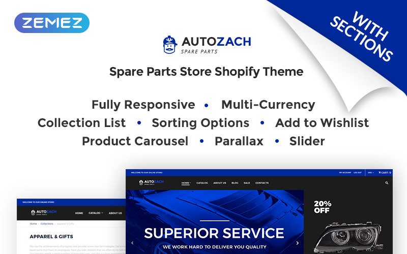 AutoZach - Auto Parts Shopify Theme