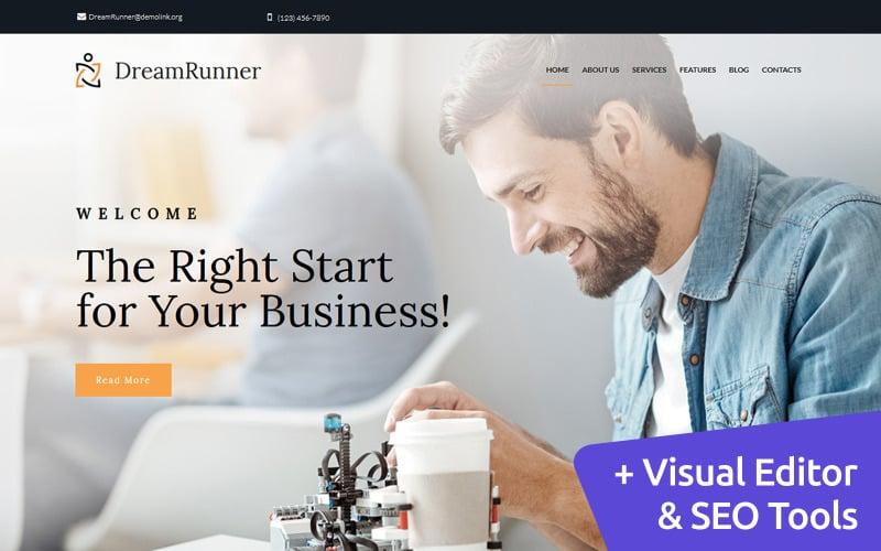 DreamRunner - Business Bureau Moto CMS 3 Template