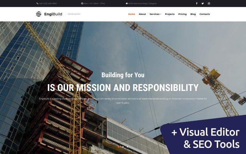 EngiBuild - Construction Company Moto CMS 3 Template