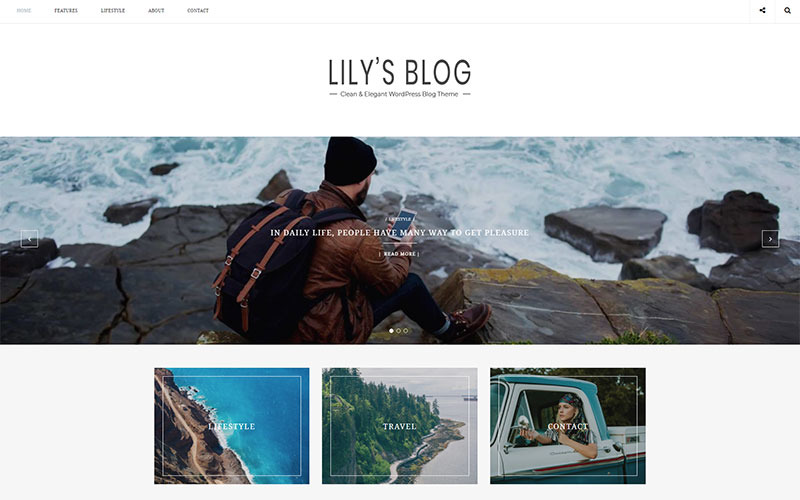 Lily - Tema limpo e elegante do blog WordPress