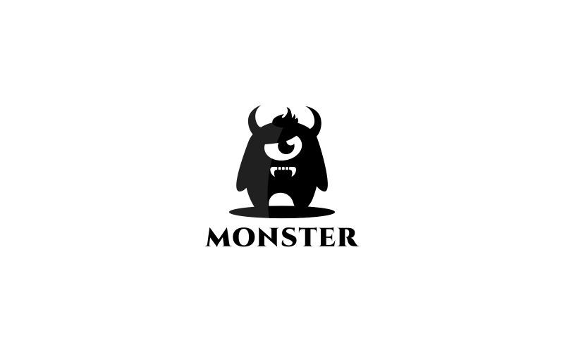 Шаблон логотипа монстра