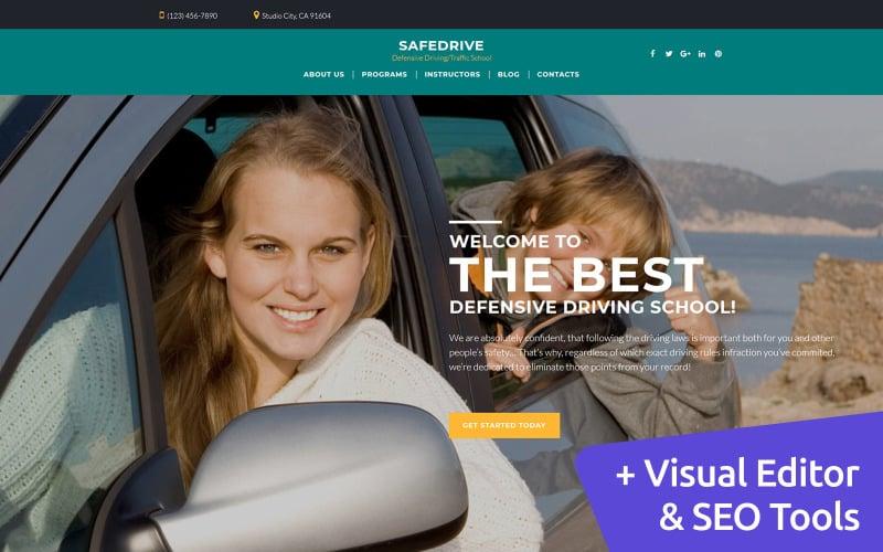 SafeDrive - Driving School Moto CMS 3 Template