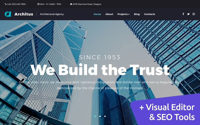 Architus - Construction Services Moto CMS 3 Template