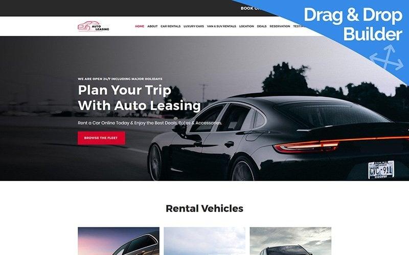 Auto Leasing - Car Rental Moto CMS 3 Template