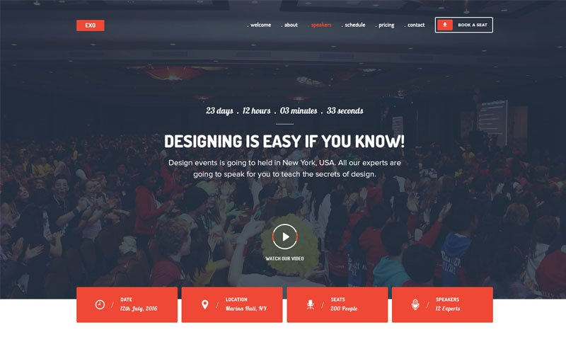 EXO   Event Landing Page Template