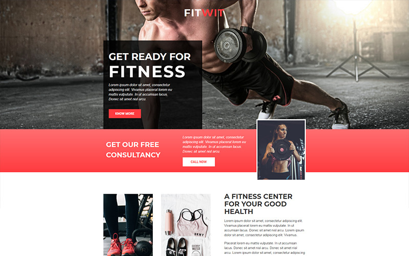 FitWit - Gym - Unbounce template