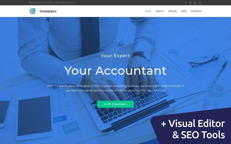 Investero - Accountant Expert Moto CMS 3 Template