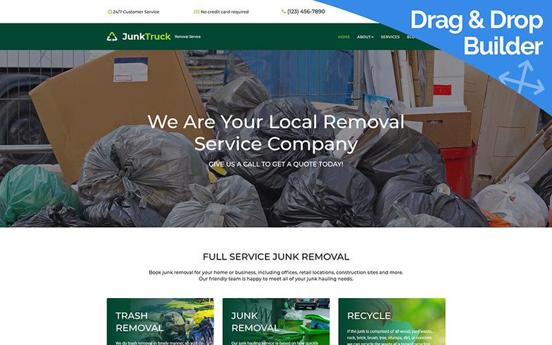 JunkTruck - Moto CMS 3-Vorlage der Garbage Removal Service Company