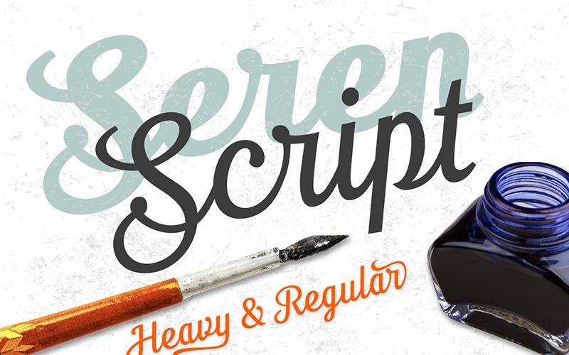Seren Script - písmo
