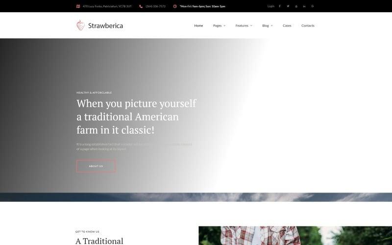Strawberica - Vegan Farm Responsive WordPress Theme