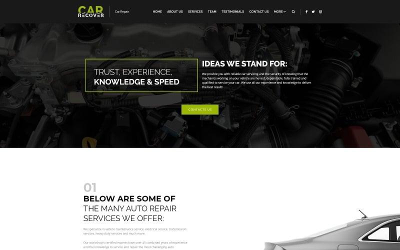 Car Recover - адаптивная тема WordPress для ремонта автомобилей