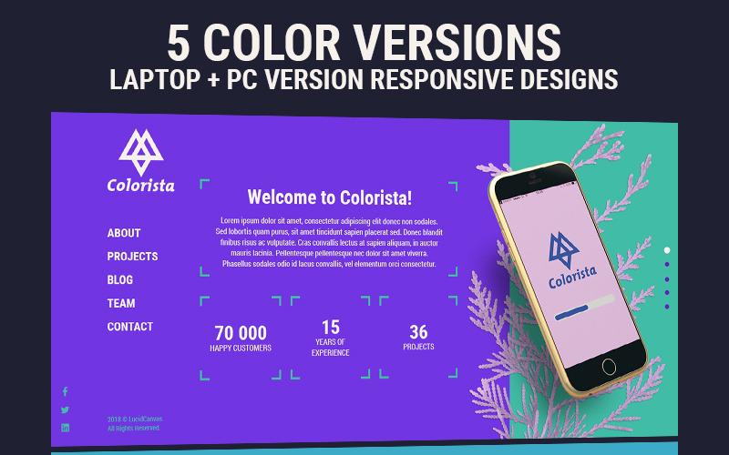 Colorista - PSD шаблон адаптивного веб-сайта для корпоративного бизнеса / портфолио