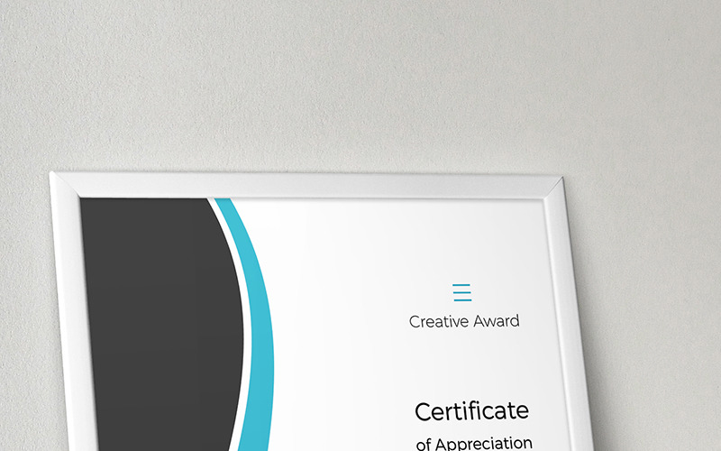 Creative Award Certificate Template