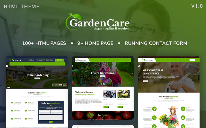 GardenCare - Gardening For Flowers, Fruits, Vegetable Planting & Landscaping Website Template