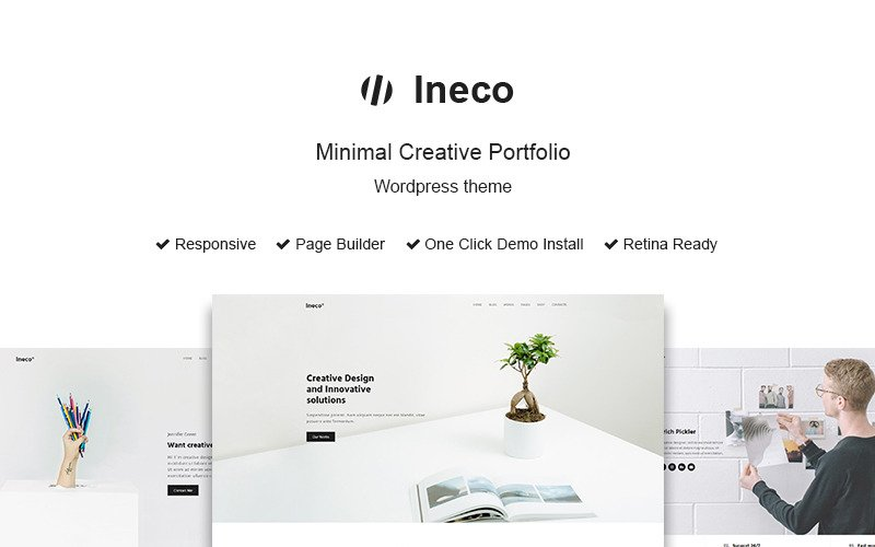Tema Ineco Minimal Creative Portfolio WordPress