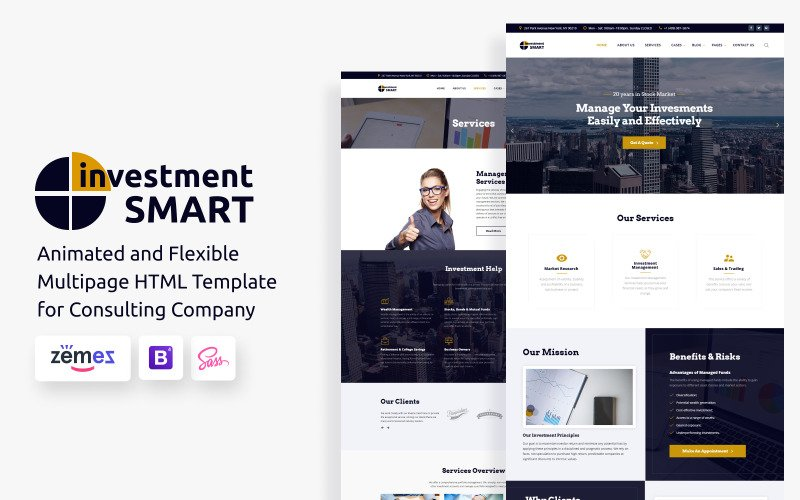 Investment Smart - Investment Management Company Website Template