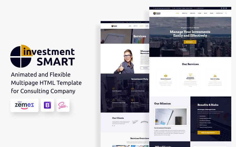 Investment Smart - шаблон веб-сайта компании по управлению инвестициями