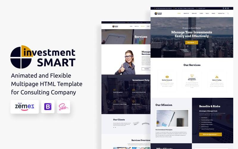 Investment Smart - Yatırım Yönetimi Şirketi Web Sitesi Şablonu