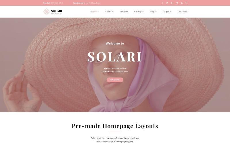 Solari - Kosmetický salon HTML5 Šablona webových stránek