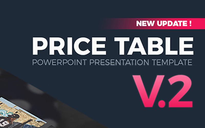 Tabela cen V2 - szablon PowerPoint
