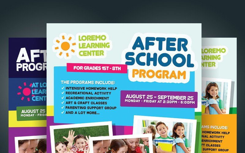 After School Program Flyer - Corporate Identity Template