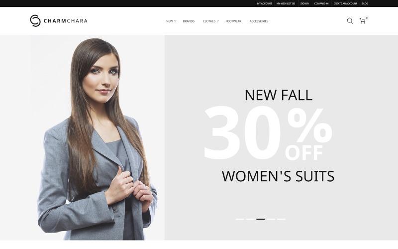 CharmChara - Thème Magento Fashion Store