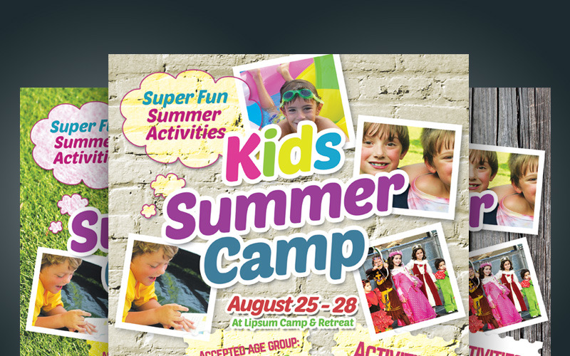 Kids Summer Camp Flyer - Corporate Identity Template