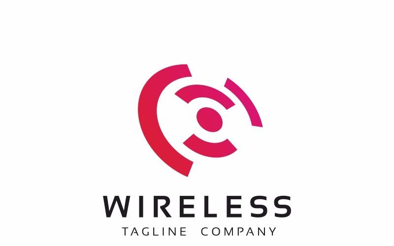 Шаблон логотипа беспроводной сети