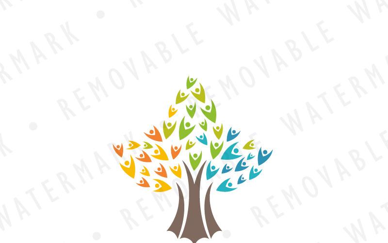 Шаблон логотипа Древо душ