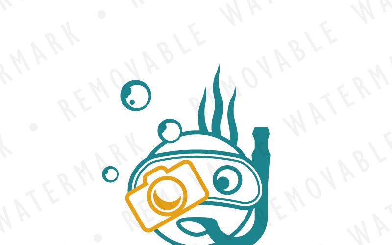 Шаблон логотипа подводной фотографии