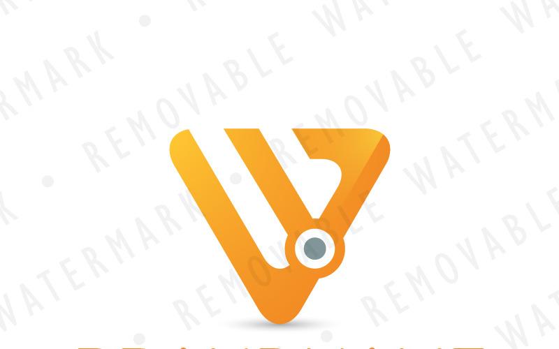 Шаблон логотипа узла треугольника W