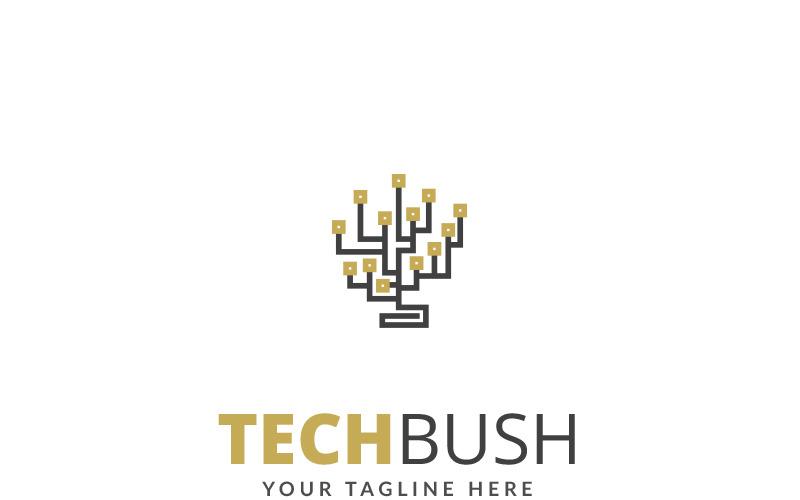 Tech Bush - шаблон логотипа