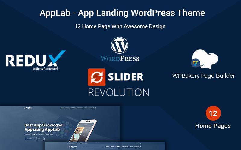 AppLab - motyw WordPress do lądowania aplikacji
