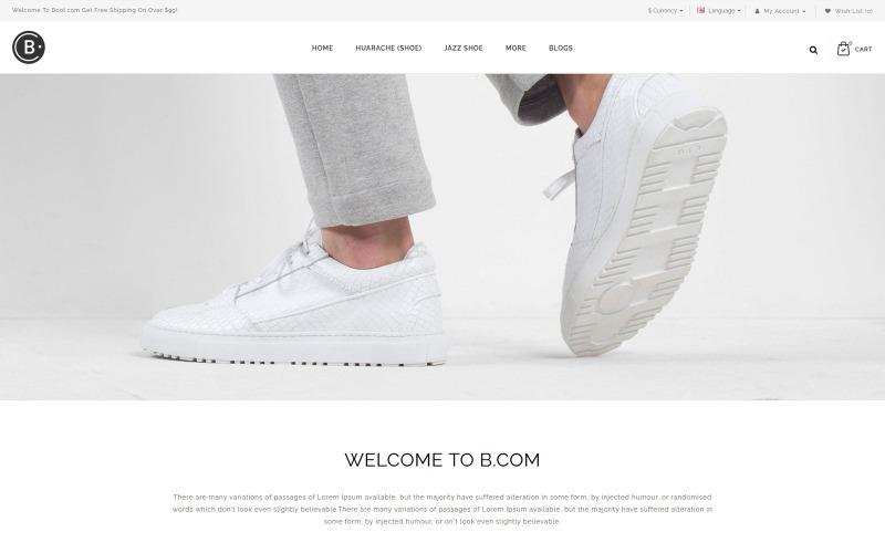 B.Com - Shoes OpenCart-sjabloon