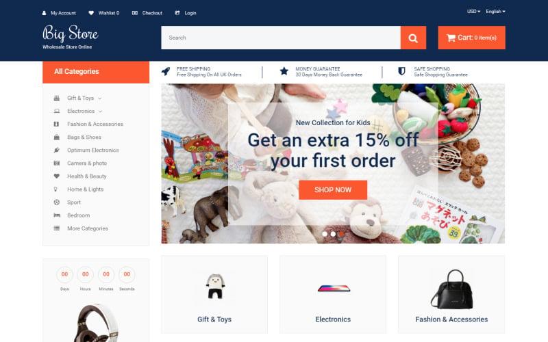 Big Store - Elegant Wholesale Online Shop OpenCart Template