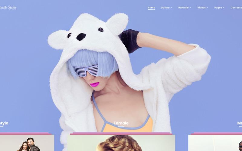 Corallo Studio - Website-sjabloon voor fotograafportfolio met meerdere pagina's