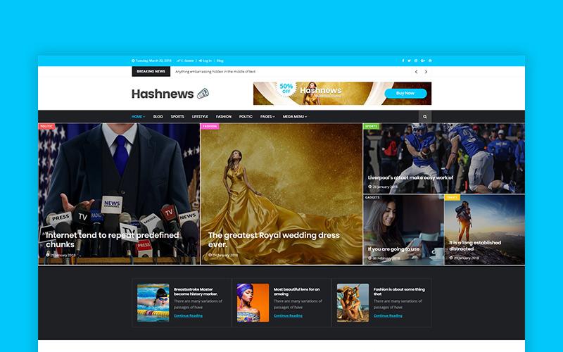Hashnews - Modèle de site Web pour magazines et journaux