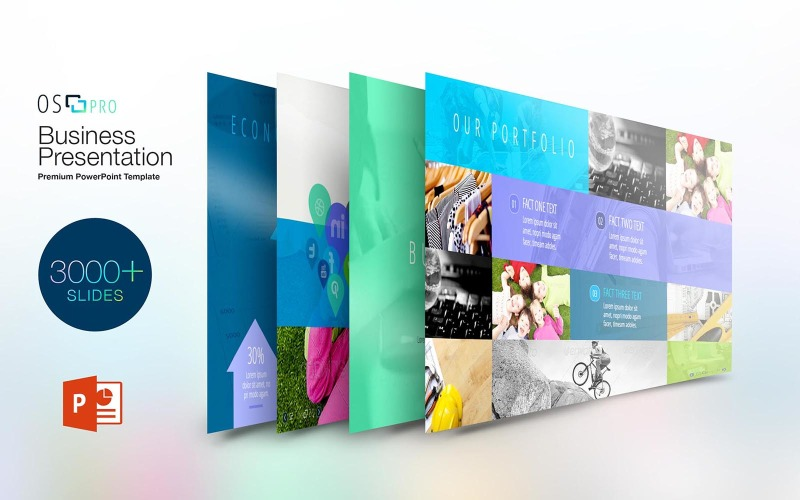 iOS:Pro Business szablon PowerPoint