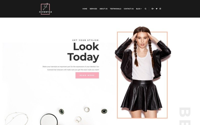Juventas - Salon WordPress Elementor Theme