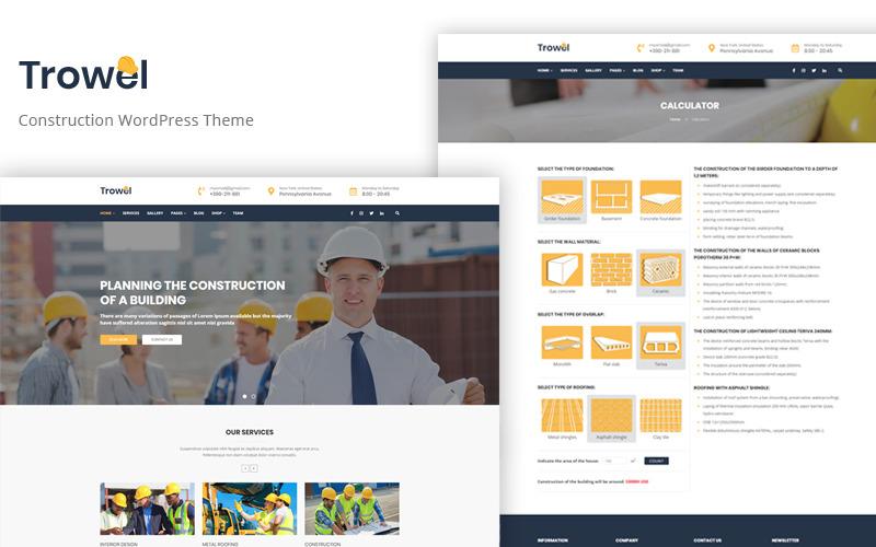 Kielnia - motyw WordPress dla budownictwa