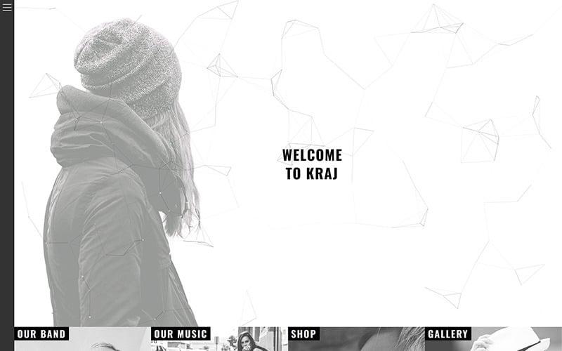 Kraj - Music Band WordPress Theme