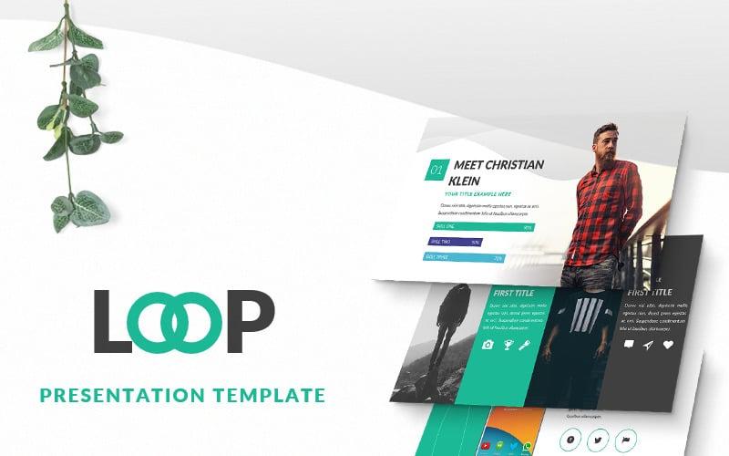 Loop Presentation PowerPoint template