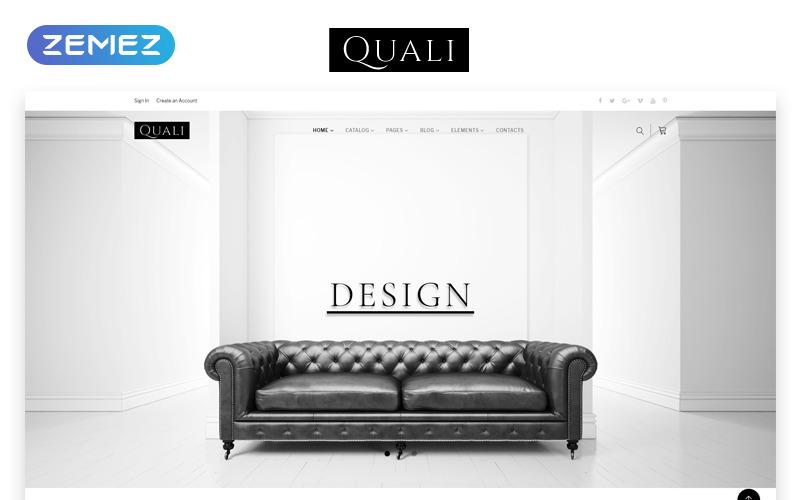 Quali - Modèle de site Web réactif multipage de meubles